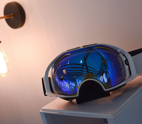 lunette de sport à la vue